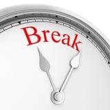 Time for a break. 3d illustration  on white background Stock Photo