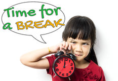 Time for a break educational concept. Stock Photos