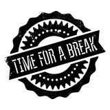 Time for a break stamp Stock Photo