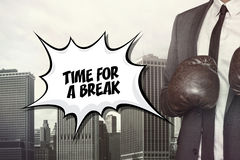 Time for a break text on speech bubble Stock Photos