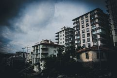 Through of time: building in Ankara royalty free stock image