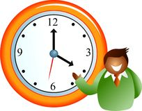 Time for business vector illustration