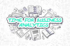 Time For Business Analytics - Business Concept. Royalty Free Stock Photography