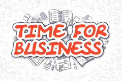 Time For Business - Cartoon Red Word. Stock Photography