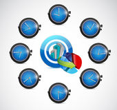 Time for business concept illustration design Royalty Free Stock Photo