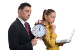 Time. Business Couple Royalty Free Stock Photo
