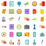 Time for business icons set, cartoon style. Time for business icons set. Cartoon style of 36 time for business vector icons for web isolated on white background Royalty Free Stock Photography