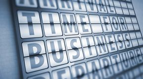 Time for business information on display board Royalty Free Stock Image
