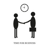 Time for business. Business meeting at a specified time of the day in black and white Stock Photos