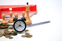 Time of the business plan Royalty Free Stock Photos