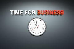 Time for business at the wall Stock Image