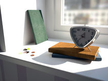 Time. Buttons. 3D illustration clock Royalty Free Stock Image