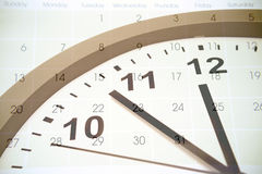 Time and calendar Royalty Free Stock Photography