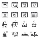 Time and Calendar icons set Royalty Free Stock Photography