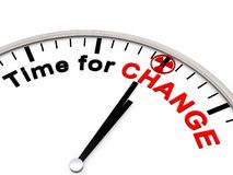 Time for Change. On a Clock Royalty Free Stock Photography