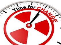 Time for Change. On a Clock Stock Images