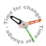Time for change. Improve for the better evolve and innovate clock indicating improvement Stock Image