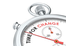Time for change. Stopwatch edition Royalty Free Stock Photos