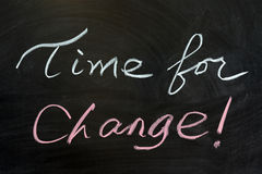 Time for change. Chalk drawing - Time for change Stock Image
