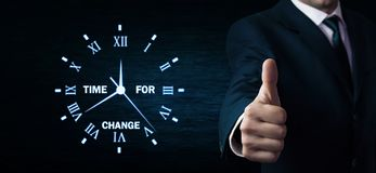 Time for change. Business concept royalty free stock photography