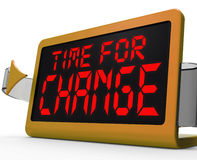 Time For Change Clock Shows Revision New Strategy Stock Photography