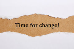 Time for Change. Concept on brown paper with teardrop royalty free stock images