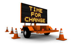 Time for Change - Construction Sign Message Royalty Free Stock Image