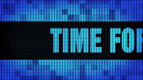Time for Change Front Text Scrolling LED Wall Pannel Display Sign Board