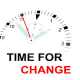 TIME FOR CHANGE Royalty Free Stock Photos