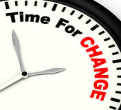 Time For Change Meaning Different Strategy Or Vary Stock Photos