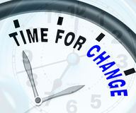 Time For Change Means Different Strategy Or Vary Royalty Free Stock Photo