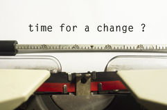Time for a change. Message of time for a change, for conceptual purpose Royalty Free Stock Images