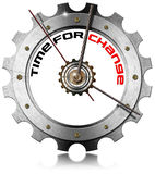 Time for Change - Metallic Gear Stock Image