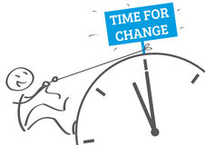 Time for change. New habits illustration stock illustration