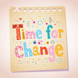 Time for change note pad paper illustration Royalty Free Stock Image