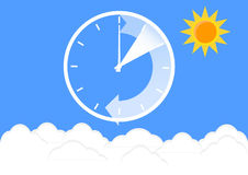 Time change Royalty Free Stock Images