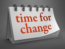 Time for Change - Red Word on Desktop Calendar. Royalty Free Stock Photo