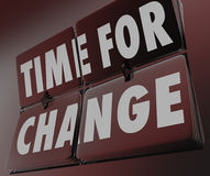 Time for Change Retro Clock Flipping Tiles Innovate Adapt Stock Photography