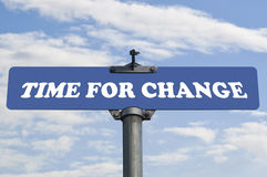 Time for change road sign Royalty Free Stock Photos
