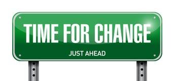time for change road sign illustration design Stock Images