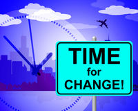 Time For Change Shows At The Moment And Changing Royalty Free Stock Photo