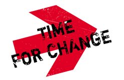 Time for change stamp Stock Images