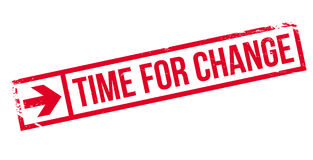 Time for change stamp Royalty Free Stock Images