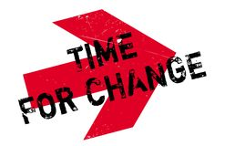 Time for change stamp. Grunge design with dust scratches. Effects can be easily removed for a clean, crisp look. Color is easily changed Stock Photography