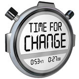 Time for Change Stopwatch Timer Clock Stock Photography