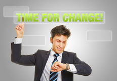 Time for change and sustainable growth Stock Image