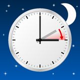 Time change to daylight saving time Stock Photo