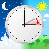 Time change to daylight saving time Royalty Free Stock Photos