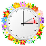 Time change to daylight saving time Royalty Free Stock Photography