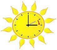 Time change to daylight saving time Stock Image